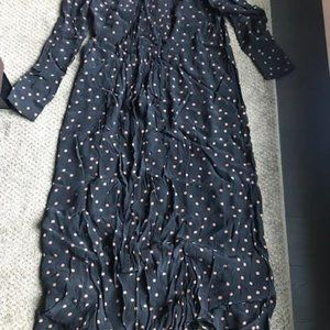 Long sleeved polka dot maxi dress from Top Shop